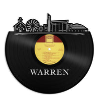 Warren MI Vinyl Wall Art Record Cityscape Home Room Decoration Bachelor Gift