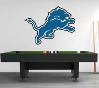 Detroit Lions Logo Wall Decal Sports Window Sticker Decor Vinyl NFL CG012