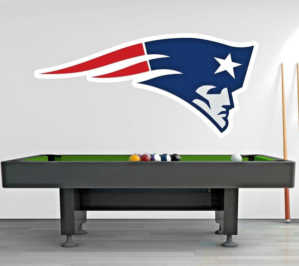New England Patriots Logo Wall Decal Sports Window Sticker Decor Vinyl NFL CG023