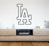 Los Angeles Dodgers Logo Wall Decal MLB Sport Sticker Decor Black Vinyl CG584