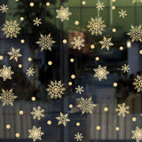 1PC Golden Combination Snowflake PVC Sticker Wall Sticker Living Room Decoration