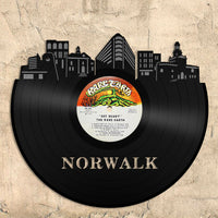 Norwalk Vinyl Wall Art Cityscape Souvenir Anniversary Office Home Room Decor