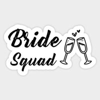 Bride Squad with Champagne Glass Envelope Card Decal Decor Laptop Vinyl Sticker