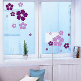 1pc Removable beautiful flowers wall sticker children living room bedroom decor