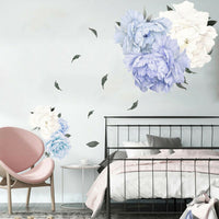 DI- Fresh Peony Flower Wall Sticker Living Room Bedroom Decal Home Decor Removab
