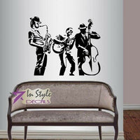 Wall Vinyl Decal Jazz Band Musicians Music Instrument Vinyl Sticker Home Decor11