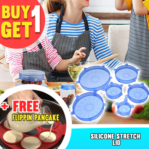 Image of Buy 1 Get 1 Promo - Silicone Stretch Lid + Flipping Pancake Maker