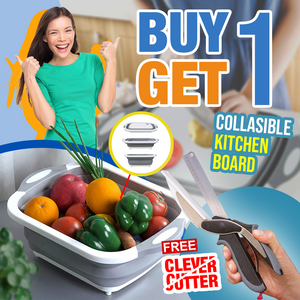 Buy 1 Get 1 Promo -  Collapsible Kitchen Board + Clever Cutter