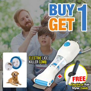 Buy 1 Get 1 Promo -  Electric Lice Killer Comb + Hair Styler Men