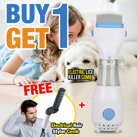 Image of Buy 1 Get 1 Promo -  Electric Lice Killer Comb + Hair Styler Men