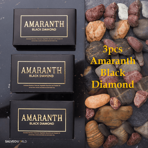 Amaranth Black Diamond - Anti-Bacterial & Effective Detoxicant Soap (3pcs)