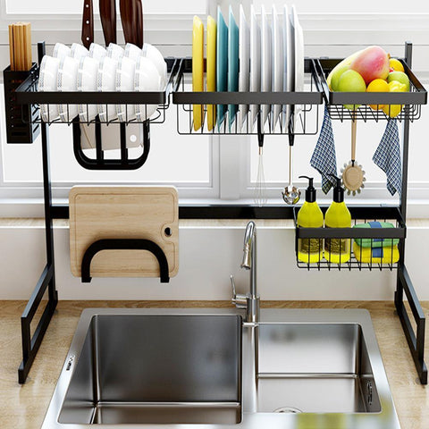 Image of Stainless Steel Kitchen Dish Rack - Fechonline