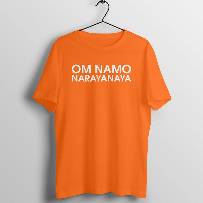 Om Namo Narayanaya Orange Men's T-shirt