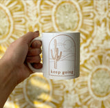 Keep Going Cactus Logo Mug