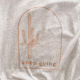 Keep Going Cactus Logo Shirt (Cream)