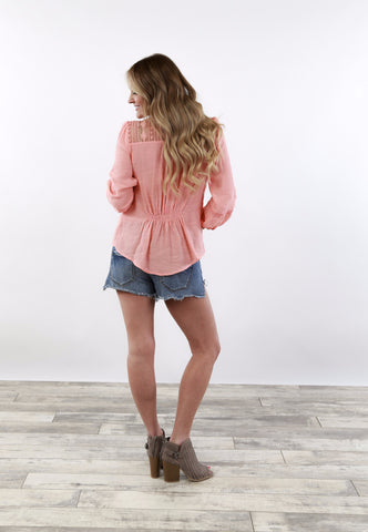 3/4 Button-Up Tunic