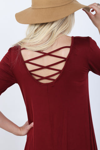 Marie Cross Back Tunic