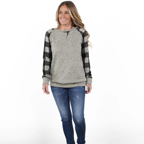 Buffalo Check Raglan| S-XL