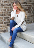 Ultra Soft Elbow Patch Pullover | S-XL