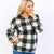 Circle Ring Zipper Plaid Knit Pullover