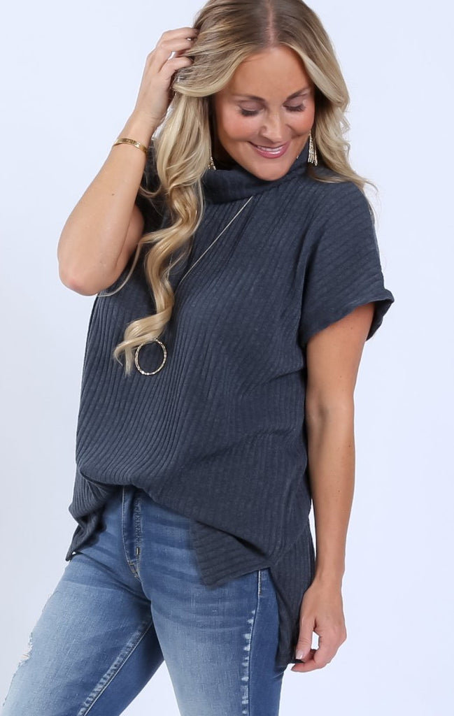 Octavia Ribbed Turtleneck Tunic | S-XL