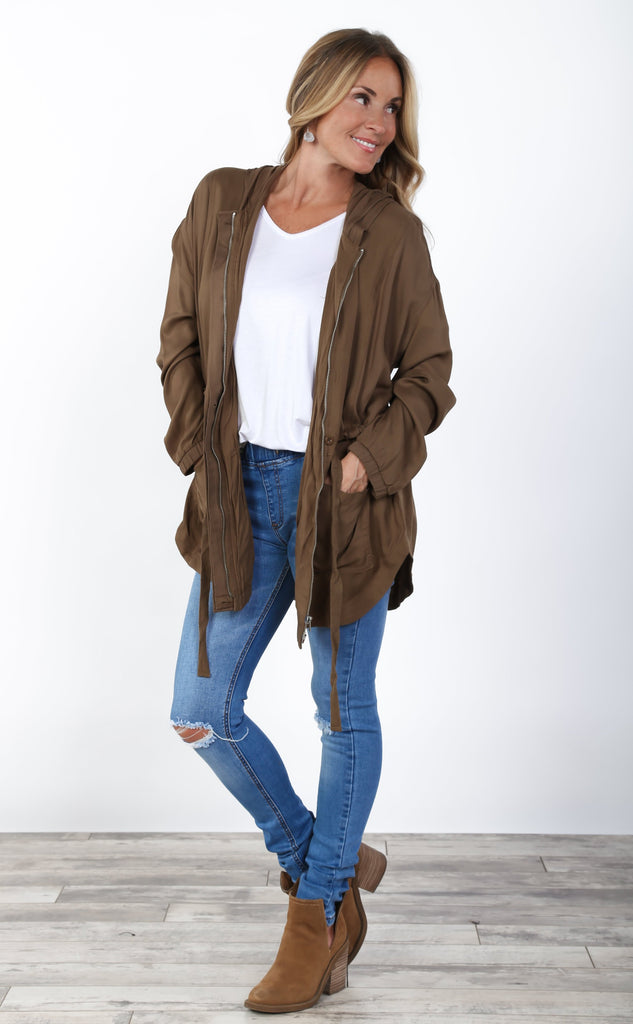 Fall Drawstring Jacket