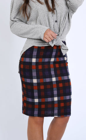 Aurelia Checkered Skirt | S-XL