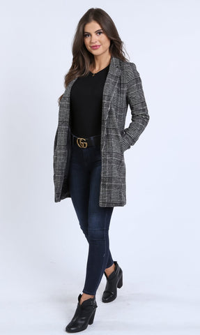Sherrie Plaid Over Coat