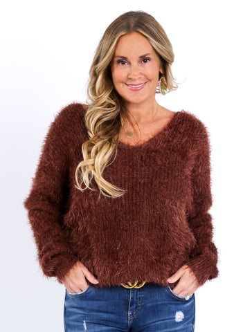 So Soft Furry Twist Back Sweater