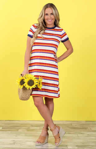 Striped Everyday Tee Dress