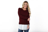 Shirt Tail Sweater | S-XL