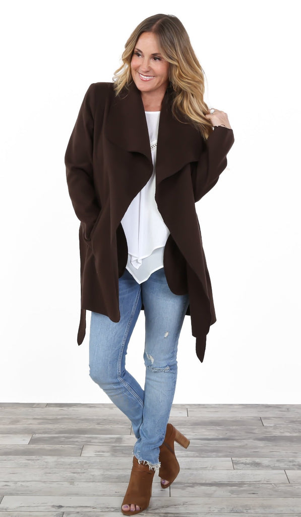 Perfect Fleece Wrap Jacket