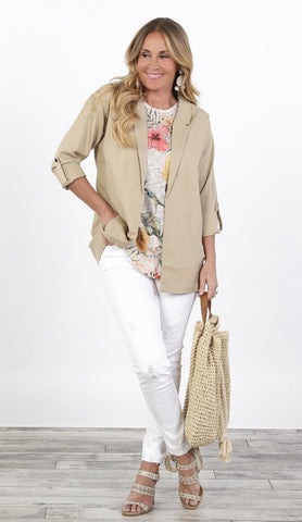 Back to Business Linen Blazer