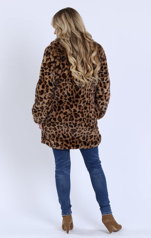 Gianna Leopard Faux Fur Coat