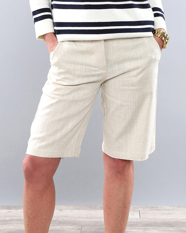 Linen Bermuda Shorts | Small-XL