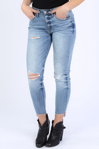 KANCAN High Waisted Distressed Jean