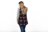 Checkered Raglan | S-XL