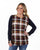 Contrast Sleeve Plaid Tunic | S-3X