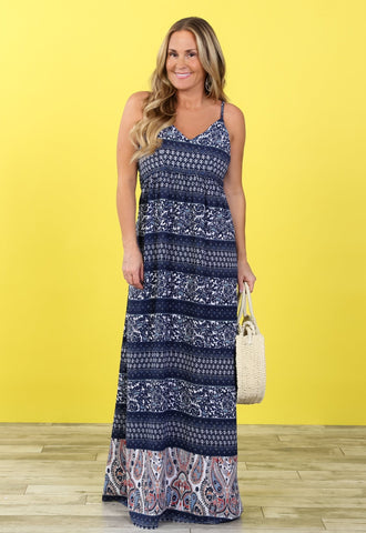Margo Paisley Maxi Dress