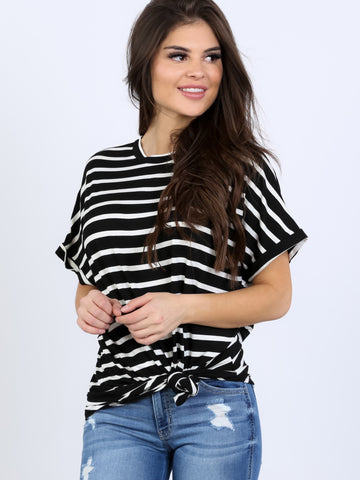 Boyfriend Crew Stripe Oversized Tunic