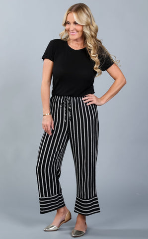 Fall Striped Culottes | S-XL