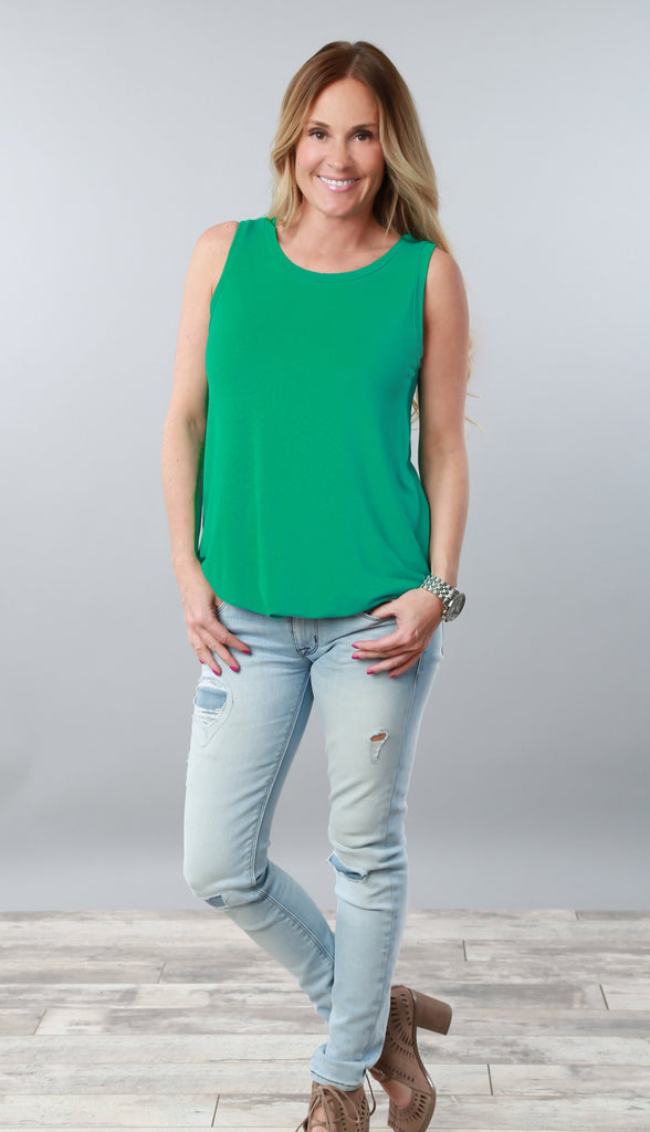 High Quality Crew Neck Tunic Tank | More Color Options