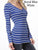 L.S. Stripe V-Neck Top