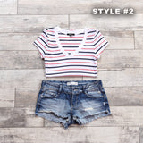 Katelyn Striped V-Neck Tee