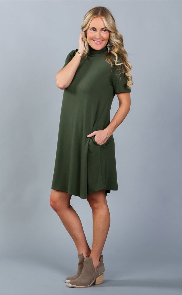 Emmy Luxe Mock Neck Dress | S-XL