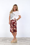 Fall Print Pencil Skirt