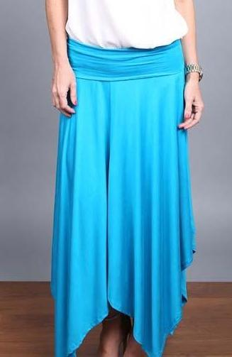 High Quality Handkerchief Maxi Skirt