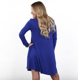 Long Sleeve Solid Flirt Dress