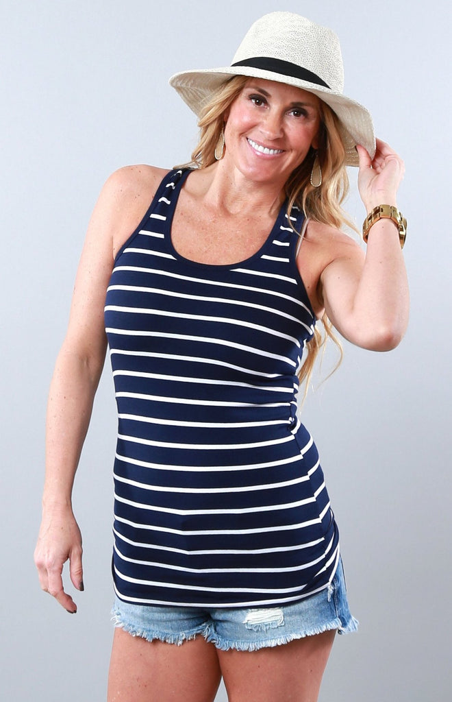 Assorted Racer Back Striped Tank