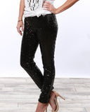 Luxe Holiday Sequin Pants